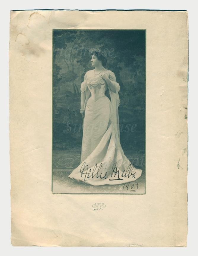 """""""Nellie Melba, World Renowned Soprano"""" 1903 Autographed Photograph! $1500 - Click picture through twice for additional info and photos"""
