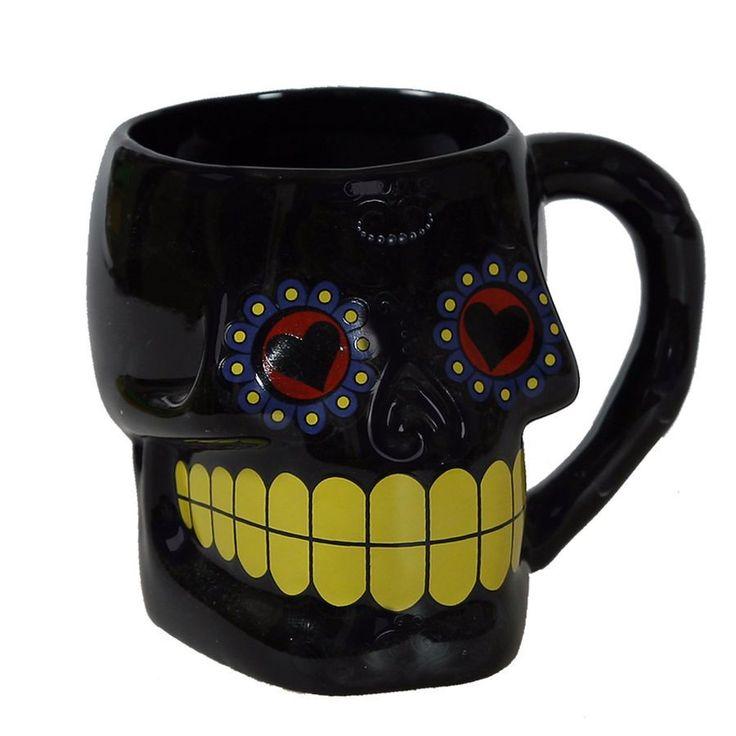 Skull Head Shape Ceramic Mug