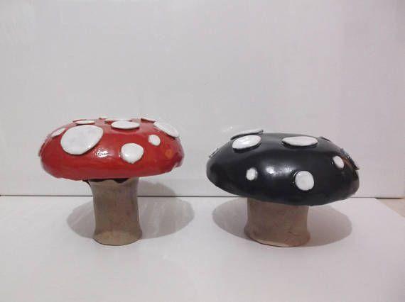 Fairy Mushroom, Toadstool, Fairy Garden Toadstool, Handcrafted Large Ceramic Toadstool
