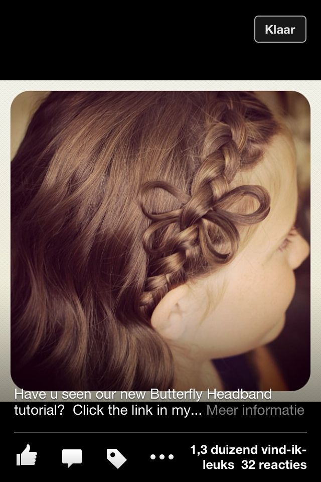 Haarbandvlecht met vlinder