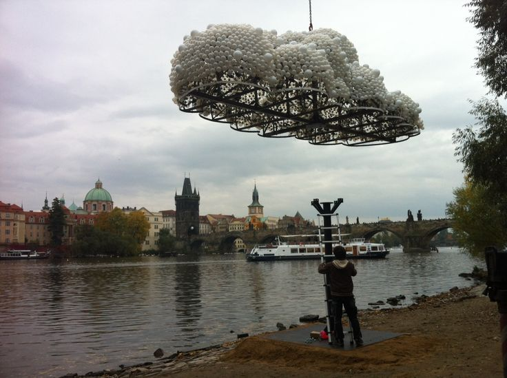CLOUD, making of, Kampa, Prague #signalfestival #architecture #prague #lightart, #installation www.signalfestival.com