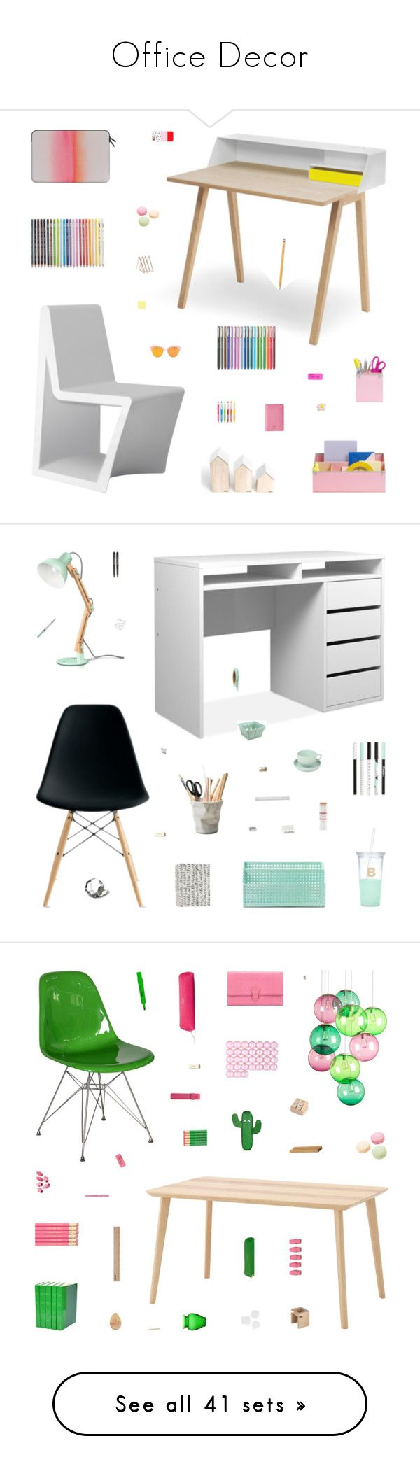 """Office Decor"" by belenloperfido ❤ liked on Polyvore featuring interior, interiors, interior design, home, home decor, interior decorating, Vondom, Benjamin Moore, Kate Spade and Casetify"