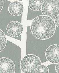 Tapet Cotton Tree Sage Grey från MissPrint