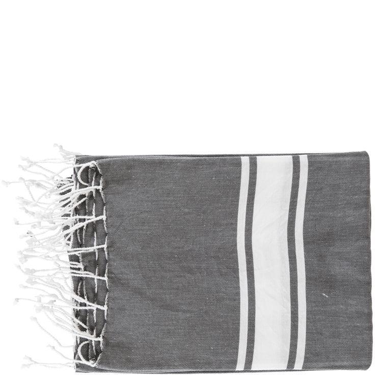 Single Stripe Fouta – Dark Grey