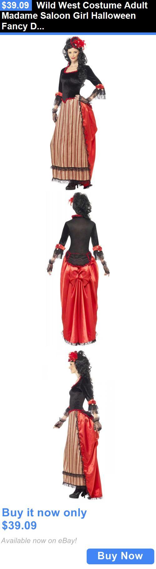 Halloween Costumes Women: Wild West Costume Adult Madame Saloon Girl Halloween Fancy Dress BUY IT NOW ONLY: $39.09