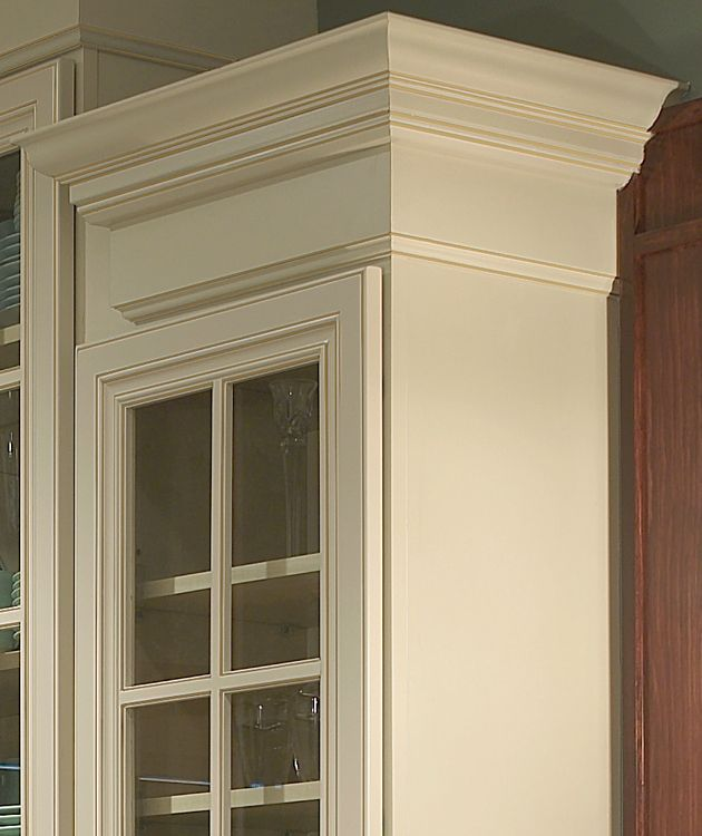 Trim And Crowm Molding On Cabinets
