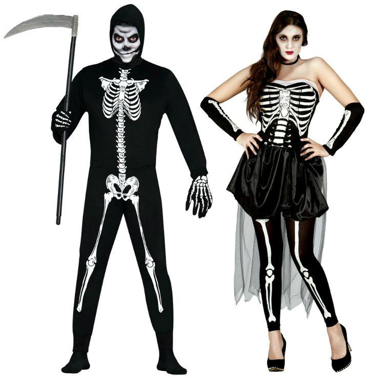 Pareja Esqueletos Halloween #parejas #disfraces #carnaval #novedades2015
