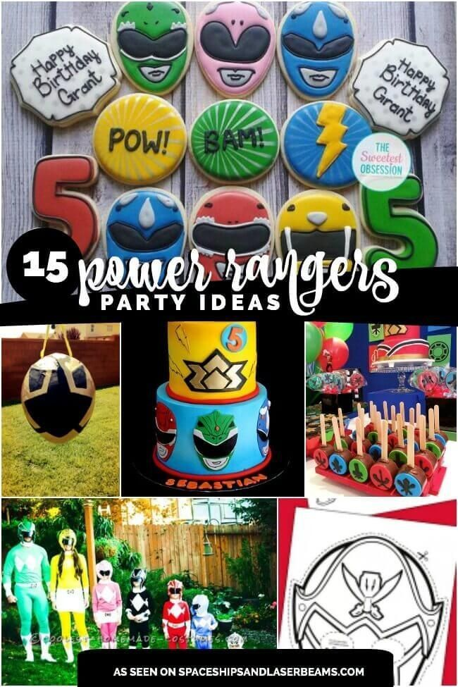 15 Power Ranger Birthday Party Ideas, Pin Today!