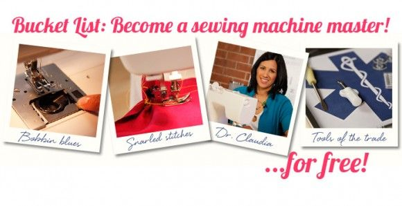 Bucket List: Become a sewing machine master.Sewing Machines, Crafts Ideas, Free Online, Machine 911, Online Sewing, Online Class, Class Free, Sewing Class, Class Sewing