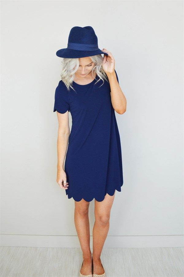 Scallop Trim Summer Dress | 6 Colors
