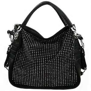 21add9969 Black studded purse <3 | Handbags | Satchel handbags, Studded purse ...