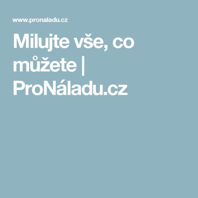Milujte vše, co můžete | ProNáladu.cz
