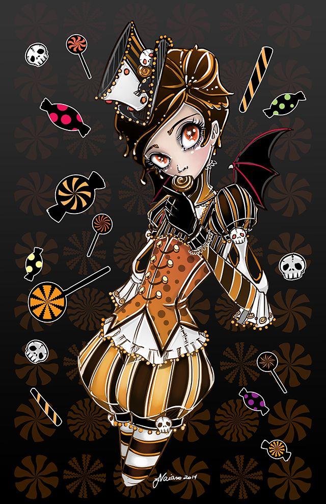 halloween candy noflutter boy deviantart steampunk maleficent sketch idea