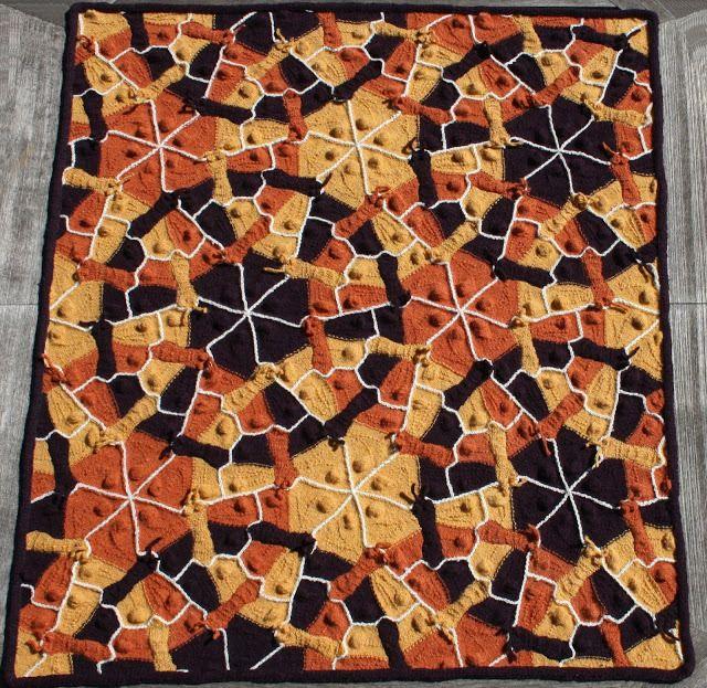 Escher Prints As Knitted Blankets
