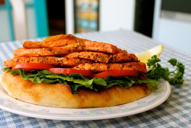 The wild salmon sandwich at The Fish Store (Image: Karolyne Ellacott).