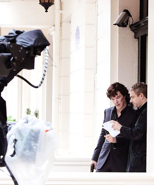 Sherlock and John...with CCTV casually watching in the background