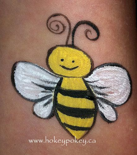 Bumble Bee Face Painting | Little bumble bee great face painting idea for boys and girls