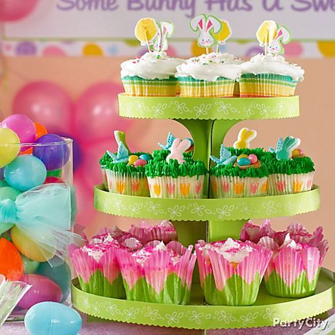 Pretty Easter Cupcakes Tower Easter Sweets Treats