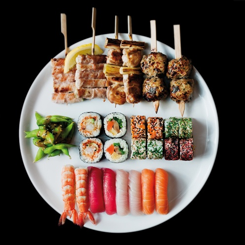 SticksnSushi, Wimbledon - excels in both yakitori and sushi. Interesting selection of fushion sushi platter. Trendy ambience. Even the drinks and dessert menu superceeds your average mid range Japanese restaurants. Yes, the price is mid range. Highly recommended!