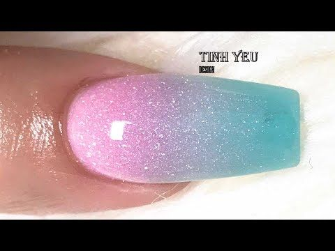 Dip Powder Ombre Nail Tutorial With Chisel Dipping Powder Youtube Nail Art Gel Powder