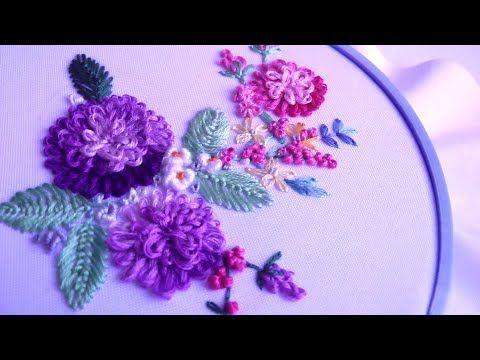 ВЫШИВКА для начинающих ШОВ ПЕСТИК    EMBROIDERY for beginners pistil stitch - YouTube
