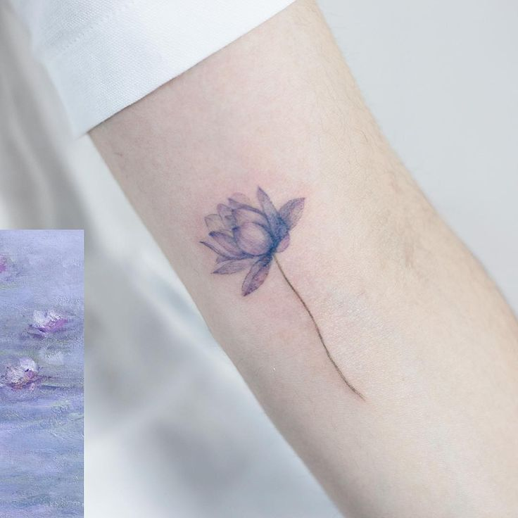 Lotus Monet '수련' #tattoo#tattoos#tattoowork#tattooart#flowertattoo#monet#lotustattoo#colortattoo#fineart#art#artist#타투#꽃타투#연꽃타투#타투이스트꽃 #tattooistflower