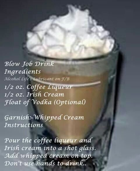 Opinion you blow job drink recipe keep