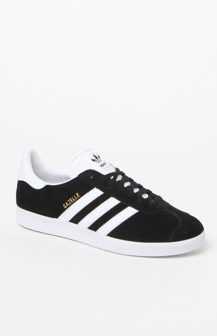 Women's Black & White Gazelle Sneakers