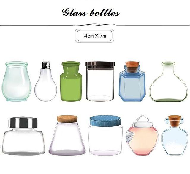 2016 новый 1 1roll = 40 мм x 7 м высокое качество стеклянные бутылки узор японский васи декоративные поделки клейкая бумажная лента наклейка подарок
