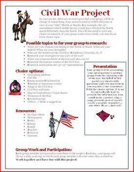 Unit Lesson Plan: Civil War Lesson Plan, Project, and Activities Answer KEY Common Core ELA History Social Studies Standards Met: 1,2,4,7,Thi...