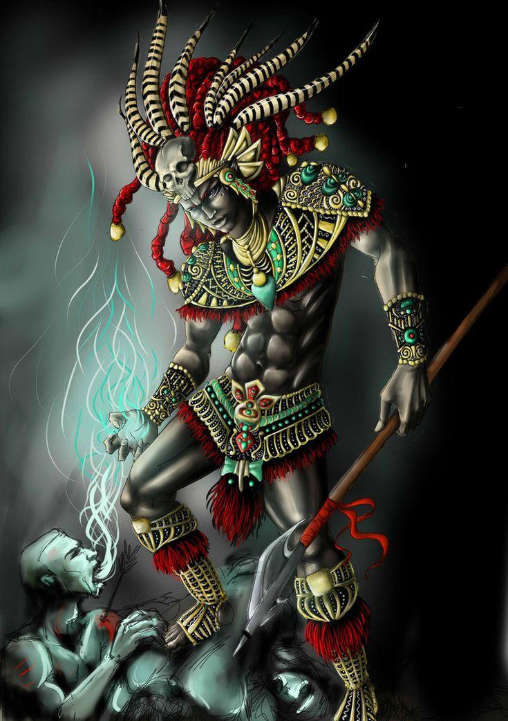 Aztec Warrior by ~XeNiitA on deviantART