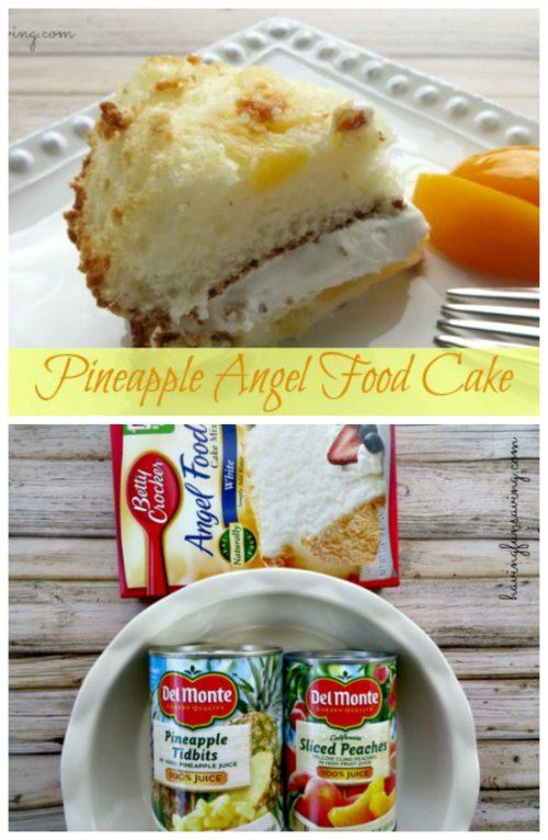 Easy low fat and delicious recipe pineapple angel food angel pineapple angel food cake recipe on having fun saving forumfinder Choice Image