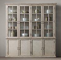 Hampton Casement Panel Sideboard Glass Hutch 88 X 77