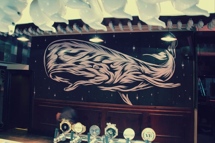 Whale Mural by James Jirat Patradoon in main bar 2014