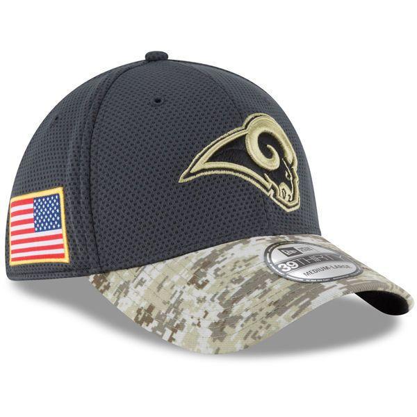 2016 New Era NFL Los Angeles Rams Salute To Service Camo Hat  39Thirty #NewEra #LosAngelesRams