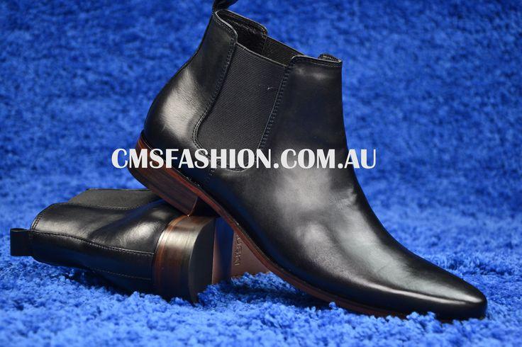 Black Leather Boots #leather #leatherboots #mensfashion #mensshoes #menswear #shoes  www.cmsfashion.com.au