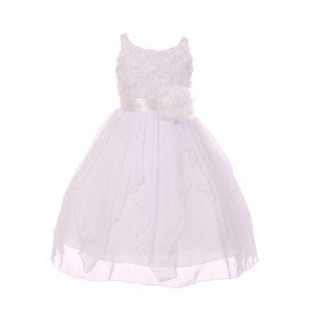 b3c65246d Chic Baby America Girls White Flower Chiffon Junior Bridesmaid Dress  #bridesmaiddresses