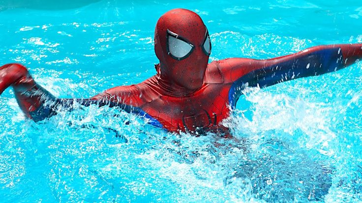 Spiderman POOL PRANKS! w/ FROZEN ELSA and Pink SPIDERGIRL Swimming Pool ...