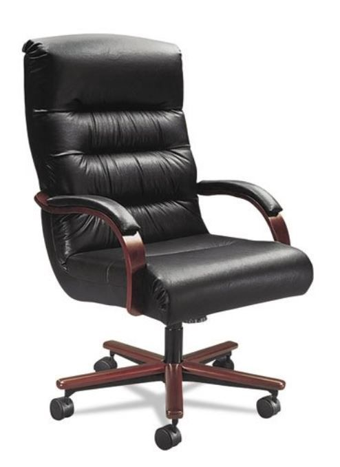 Big Man Office Chair, Wide Seat, 350, Leather, Tall Back, Lazboy