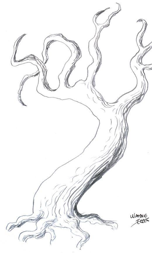 ik wil deze boom misschien als wimpers gebruiken omdat het lekker griezelig staat