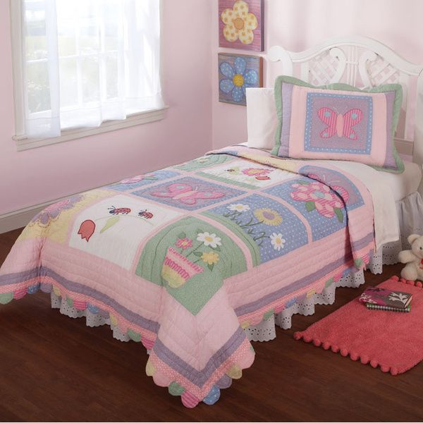 Anna's Daydream Embellished 3-piece Quilt Set - Overstock™ Shopping - The Best Prices on Kids' Quilts
