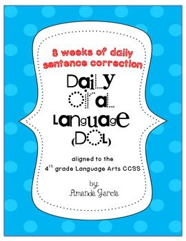 Printables Daily Oral Language 5th Grade Worksheets 1000 ideas about daily oral language on pinterest student led dol book 1 aligned to 4th grade ccss