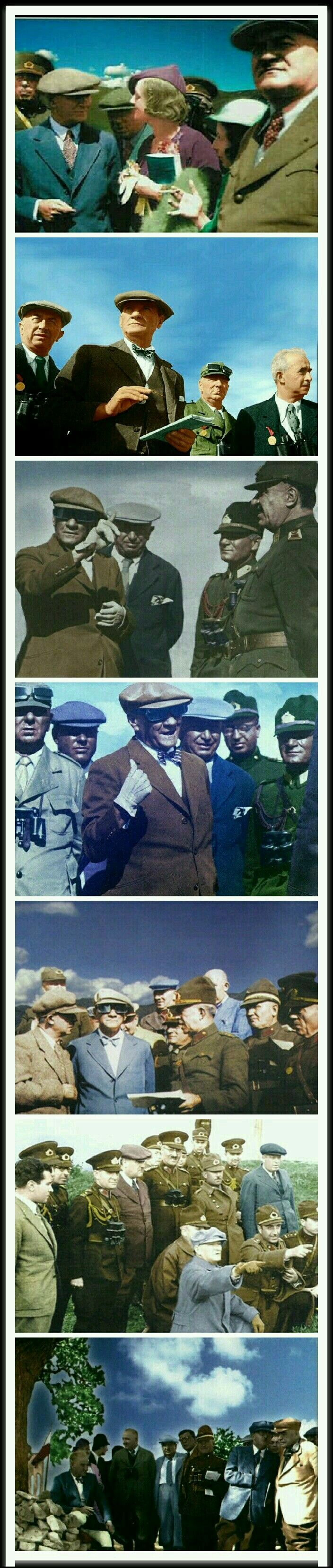 Atatürk, Türk milletinin ruhunda Türk bayrağı gibi dalgalanan bir baştı.          Daily Telegraph Gazetesi