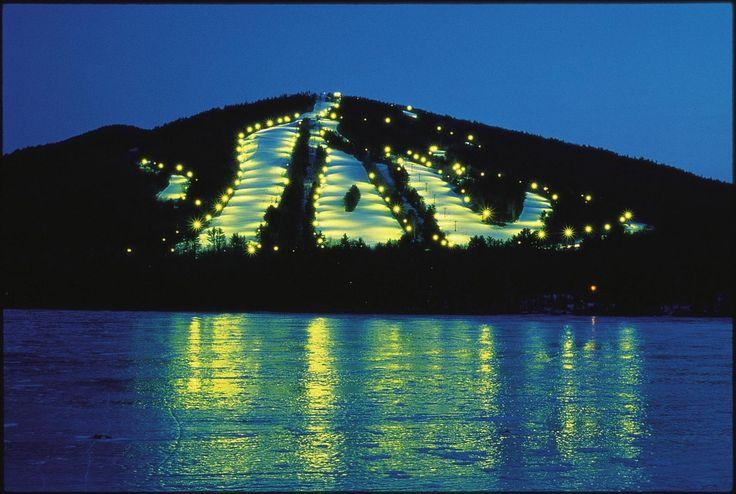 Night skiing, Shawnee Peak, ME Thus is so much fun!