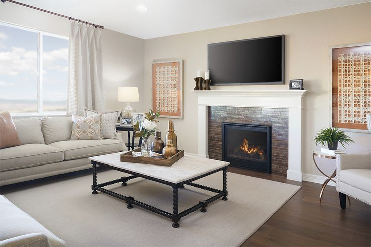 Cozy Fireplace Natural Light Perfect Great Room Alcott Model