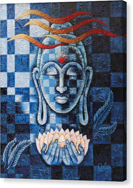 Lord Buddha Canvas Print by Chitra Singh