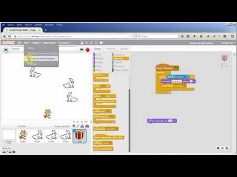 Programowanie dla dzieci w języku Scratch. Część 4 - Gra - Nie bój ducha - YouTube