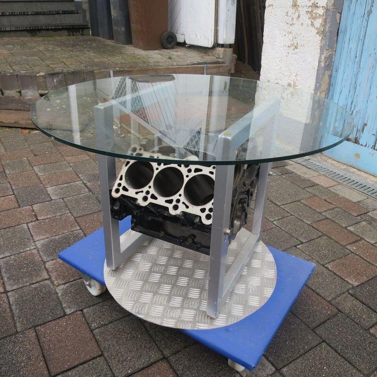 Glastisch Motorblock V6 in Möbel & Wohnen, Möbel, Tische | eBay