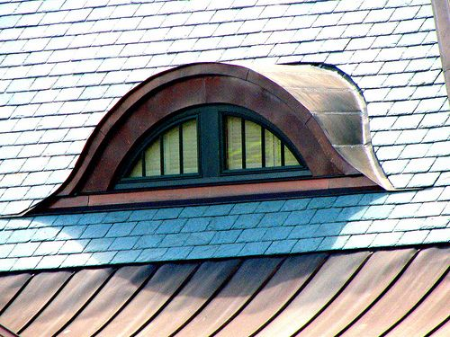 Eyebrow Dormer With Great Copper Flashing And Copper On