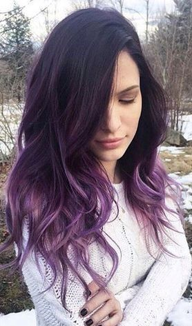 purple ombre hairstyles